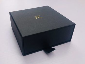 FC -Black Exquisite Cardboard Drawer box - FC Accessories