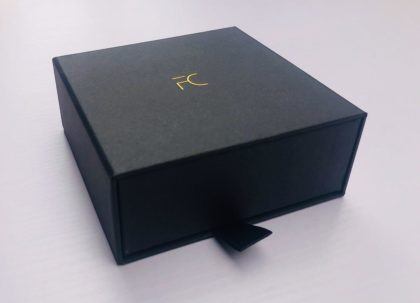 FC -Black Exquisite Cardboard Drawer box - FC Accessories