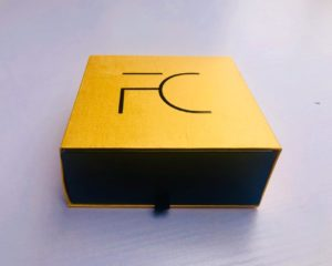 FC Gold & Black Exquisite Cardboard Drawer Box - FC Accessories