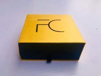 FC Gold & Black Exquisite Cardboard Drawer Box - FC Accessories